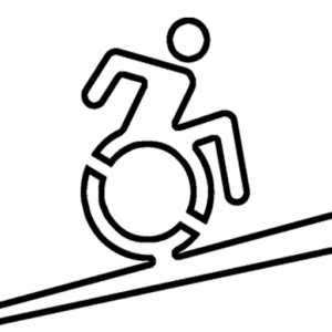 pictogram of ramps for people with reduced mobility