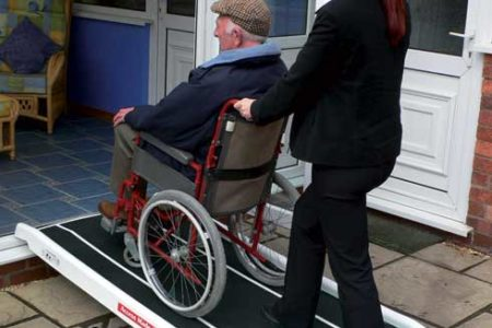 access to retirement home with a standard fibreglass ramp