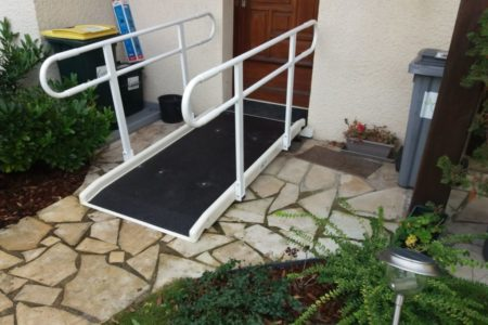 secure access to your home with a Jetmarine fibreglass standard ramp with double handrail