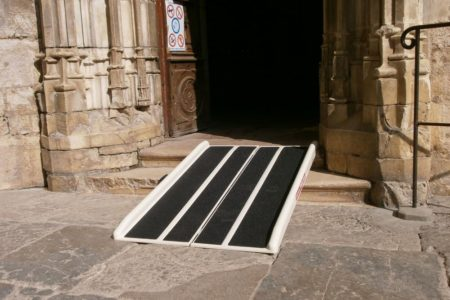 Accessibility of a church with a fibreglass Briefcase ramp