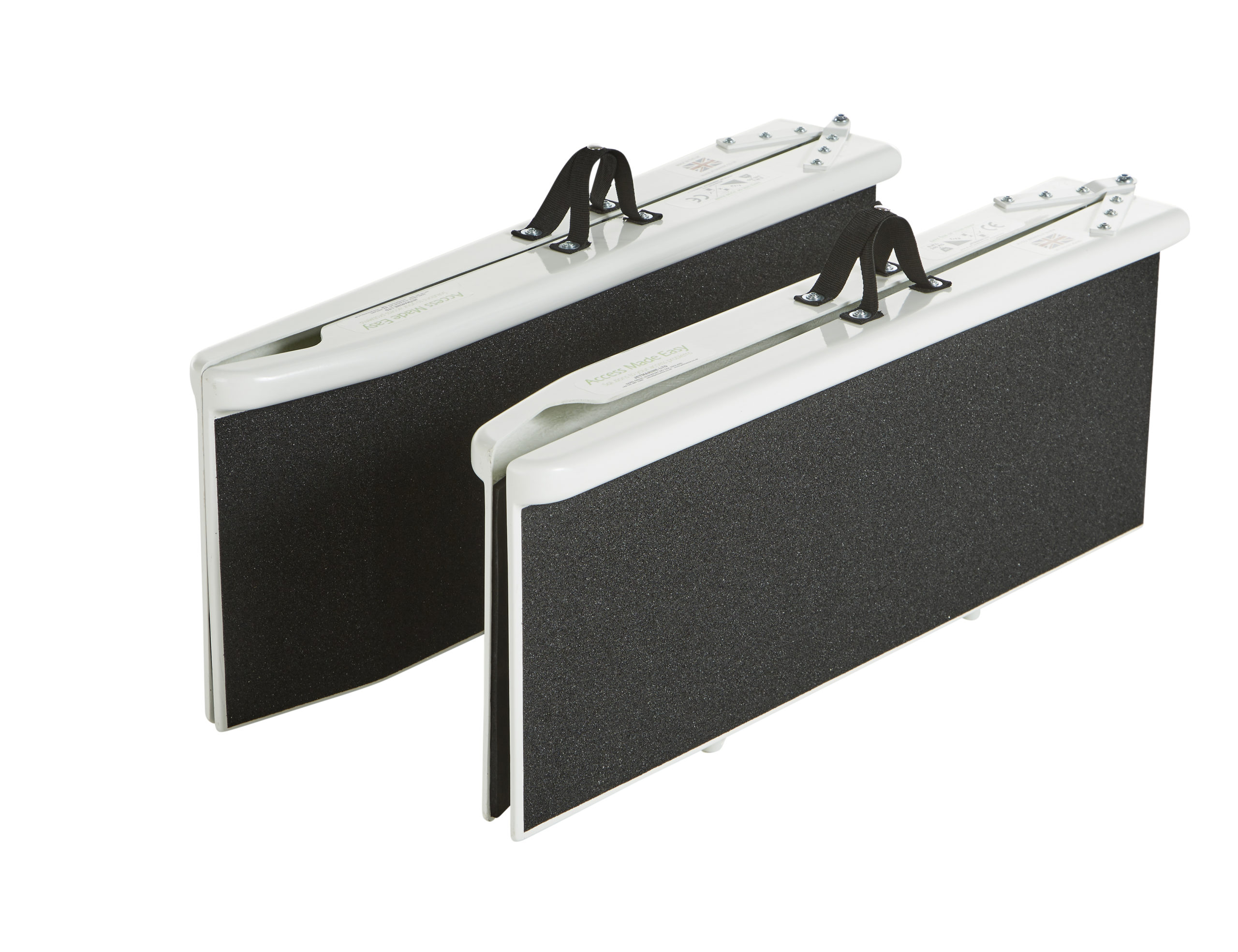 Folded split scooter ramp with white background